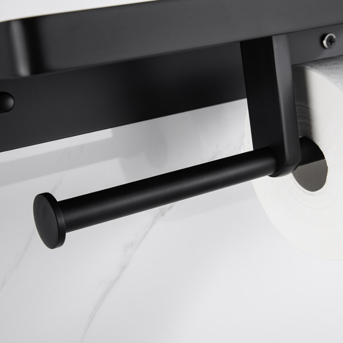 Double Paper Holder With Shelf 8211B