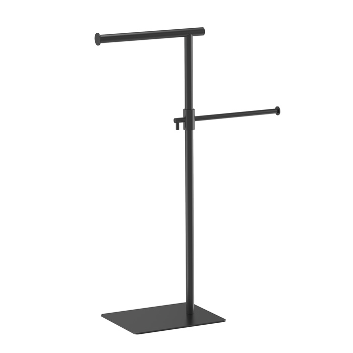 Freestanding Double Hand Towel Holder With Matte Black 10006B